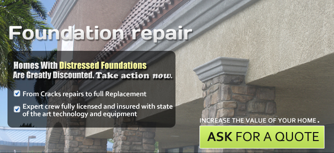 Homes with distressed foundations are greatly discounted. Increase the value of your home and take action now, from crack repairs to full replacement.