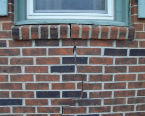 Before - Crack Repair in Uniontown, KS Cottonwood Estates Nursing Home