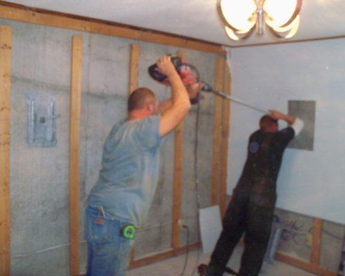 MFR installing Wall Anchors in Fort Scott, Kansas