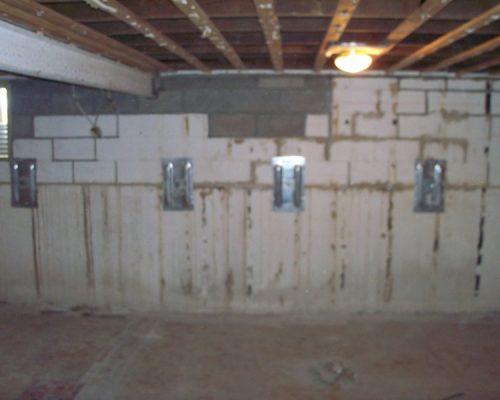 Rebuilt Beam Pocket with Wall Anchors